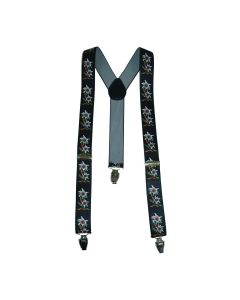 Funny Fashion Oktoberfest Suspenders Floral Suspenders, Black, One-Size