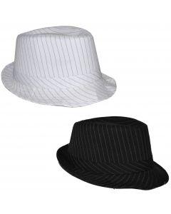 "Pinstripe Fedora Al Capone Gangster Adult Costume Hat, 11""X9""X6"""