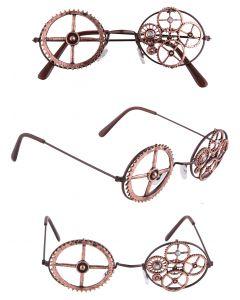 "Steampunk Halloween Eyewear Costume Glasses, Copper, One-Size 4.75"""