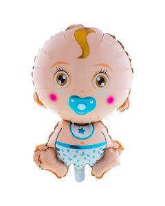"""It's a Baby Boy Shape Gender Reveal 27"""" Jumbo Foil Balloon, Blue Multi"""
