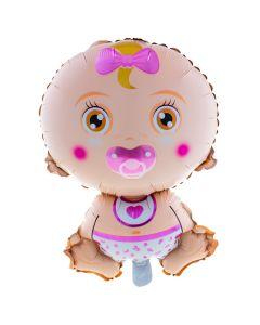 "It's a Baby Girl Shape Gender Reveal 27"" Jumbo Foil Balloon, Pink Multi"
