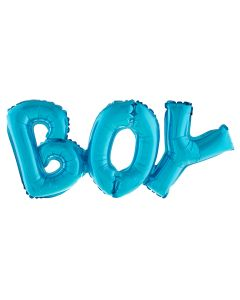 "Funny Fashion It's a BOY Gender Reveal Jumbo 36.5"" Foil Balloon Banner, Blue"