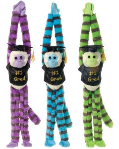 "Veil Entertainment Grad Long Legged Monkey Blue 29"" Plush Animal, Blue"