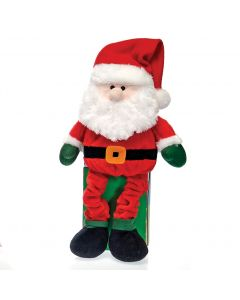 "Fiesta Christmas Long Leg Santa with Hat 15.5"" Plush Animal, Red"