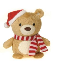 "Fiesta Mini Christmas Bean Bag Bear 4.5"" Plush Animal, Brown"