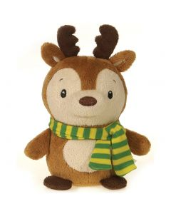 "Fiesta Mini Christmas Bean Bag Reindeer 4.5"" Plush Animal, Brown"