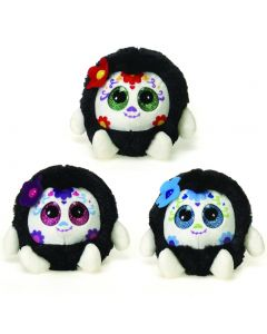 "Fiesta Lubby Cubbies Cute Sugar Skull 3.5"" Plush Toy, Assorted, 3 Pack"