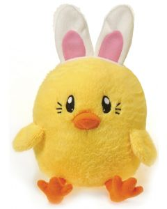"Fiesta Cute Small Easter Sitting Chick Bunny 5"" Plush Animal, Yellow"