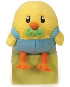 "Fiesta Cute Small Easter Sitting Boy Chick 5"" Plush Animal, Yellow Blue"