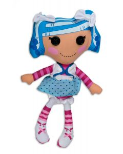 """Fiesta Lalaloopsy Mittens Fluff 'N' Stuff 13""""T by 7""""W Plush Doll, Blue Purple"""
