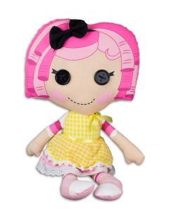 "Fiesta Lalaloopsy Crumbs Sugar Cookie 16.5""T by 9""W Plush Doll, Pink Yellow"