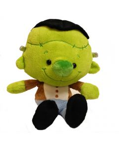"Fiesta Halloween Bean Bag Sitting Frankenstein 6"" Plush Toy, Green Blue"