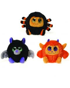 "Fiesta Lubby Cubbies Halloween Monsters 3.5"" Plush Toy, Assorted, 3 Pack"