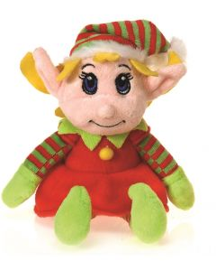 "Santa's Secret Christmas Elf Girl Stocking Stuffer 6"" Plush Doll"