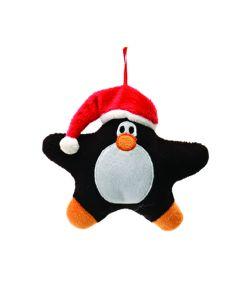 """Fiesta Festive Christmas Penguin 5"""" Plush Animal, Black Orange Red"""