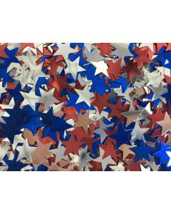 SKD Stars Patriotic 4th of July 15g Party Confetti, Red Silver Royal Blue