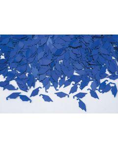 SKD Grad Caps Graduation School Color 15g Party Confetti, Royal Blue