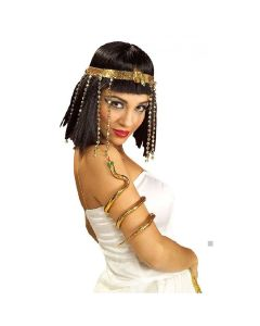 Forum Halloween Cosplay Egyptian Snake Costume Armband, Gold, One-Size