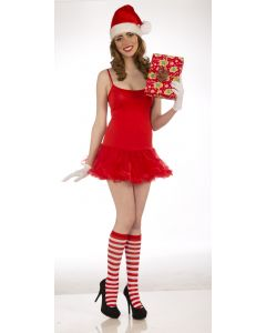 Forum Elf Christmas Striped Costume 2pc Socks, Red White, One-Size