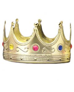 Forum Cosplay Regal Royal King Halloween Costume Crown, Red, One-Size