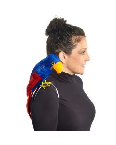 """Forum Halloween Pirate Parrot Shoulder Costume Prop, Red Blue Black, One-Size 9"""""""