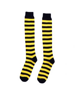 Forum Halloween Bumble Honey Bee Striped Socks, Black Yellow, One-Size