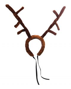 "Oversized Plush Christmas Reindeer Antlers Headband, Brown, One-Size 9"" Tall"