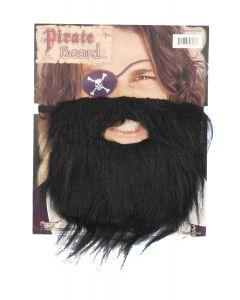 Forum Classic Pirate Bushy Beard & Moustache Set, Black, One-Size