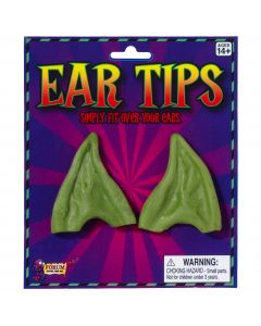Forum Holiday Christmas Elf Costume Pointed Ear Tips, Green, One-Size
