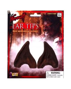 Forum Holiday Christmas Elf Costume Pointed Ear Tips, Brown, One-Size