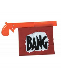 "Forum Halloween Cosplay Hilarious Clown Bang Gun, Orange Black, 5.5"" L"