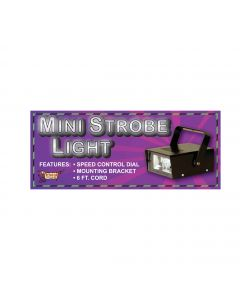 Forum Flashing Halloween 60hz 2.5W Indoor Mini 5inX2in Strobe Light, Black