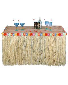 "Forum Hawaiian Luau Party Decoration 104"" Table Skirt, Natural Rainbow"