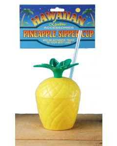 Forum Tropical Pineapple Summer Luau Sipping Party Cup, Yellow Green