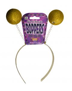 Forum Dazzling Bumble Bee Glitter Costume Head Boppers, Gold, One-Size