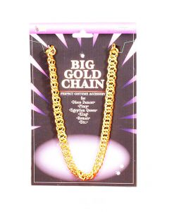 Forum Big Gold Chain Rapper Bling Gangster Costume Necklace, Gold, One-Size