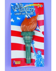 Forum Light Up Statue of Liberty Torch Costume Accessory, Teal Orange, One-Size