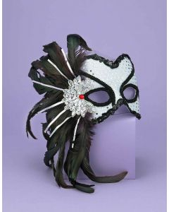 Forum Halloween Cosplay Karneval Style Mask Mask, Silver Black, One-Size