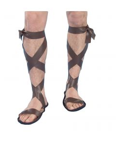 Forum Halloween Gladiator Roman Warrior Adult Sandals, Brown, One-Size