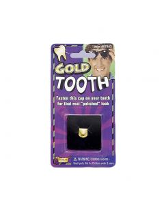 Forum Bad Biker Gold Tooth Dent En Or Costume Accessory, Gold, One-Size