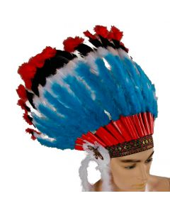 "Forum Native American Headdress Costume Headpiece, One-Size 17"" L"