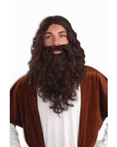 Forum Biblical Jesus Wise Men Costume 2pc Wig & Beard Set, Brown, One-Size