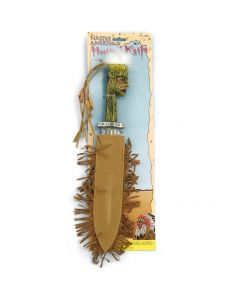 """Forum Halloween Cosplay Native American Toy Hunting Knife, Brown Grey, 14"""" L"""