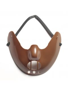 Forum Cannibal Horror Restraint Mask Costume Accessory, Brown, One-Size