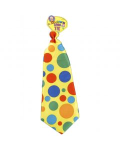 "Forum Jumbo Polka-Dotted Clown Halloween Costume Tie, Yellow, One-Size 21"" L"