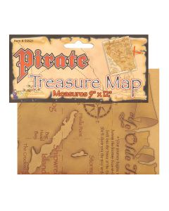 Forum Halloween Caribbean Pirate Treasure Map Costume Prop, Brown, 12""