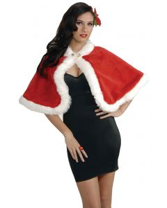 Forum Mrs Santa Claus Christmas Sexy Holiday Costume Stole, Red White, One-Size