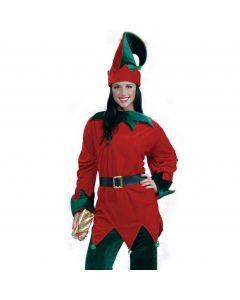 Forum Santa's Helper Christmas Elf Set 3pc Adult Costume, Red Green, X-Large
