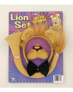 Forum Lion Animal with Sound 4pc Costume Accessory Set, Yellow Gold, One-Size