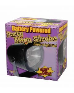 Forum Halloween Spooky Decoration Battery-Powered Mega 4.5V Strobe, Black